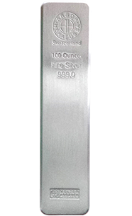 100 Ounce Switzerland Silver Bars