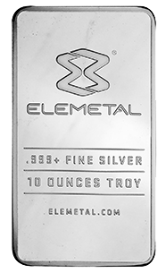 10 Ounce Silver Bullion Bar
