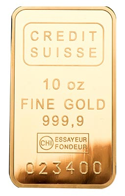 10 Ounce Swiss Solid Gold Bar