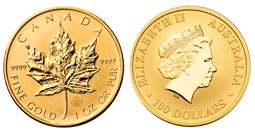 Canadian Maple Leaf Gold Coins