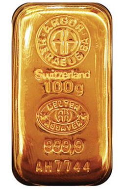 100 gram Swiss Gold Bar